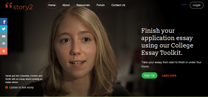 Story2, The Online Platform For College Application Essay