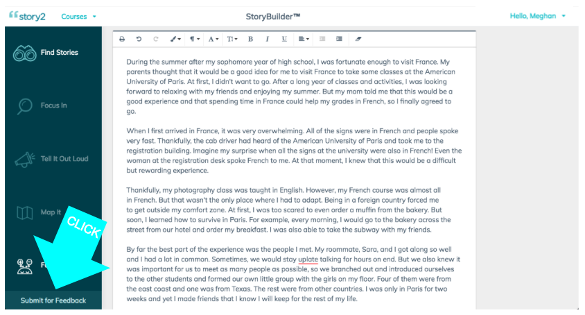 First 50 students to submit receive two FREE rounds of Written Feedback from a Story2 Coach!