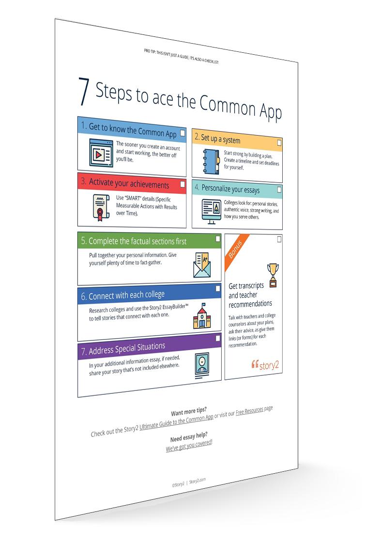 Ace the Common App Checklist