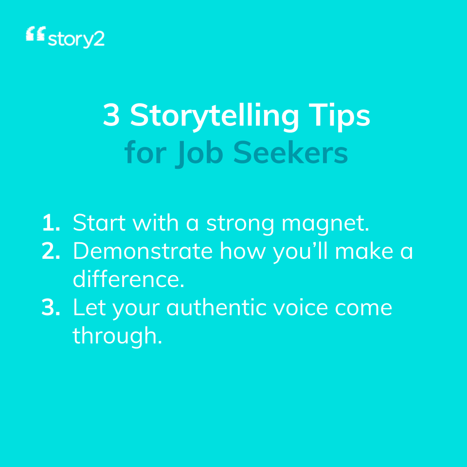 How to Use Storytelling to Ace your Interviews and Land the Job